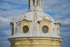 La Coupole de la Cathédrale Saint Pierre et Saint Paul - Saint Petersbourg - Construite de 1712 à 1733 par l'architecte Domenico Trezzini.