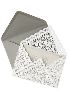 lovely lace letter inserts by Martha Stewart