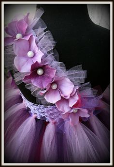 Purple pearl flower girl tutu dress purple tutu dress by gurliglam, $67.00