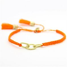 Forever Linked Macrame Bracelet, I love you Collection