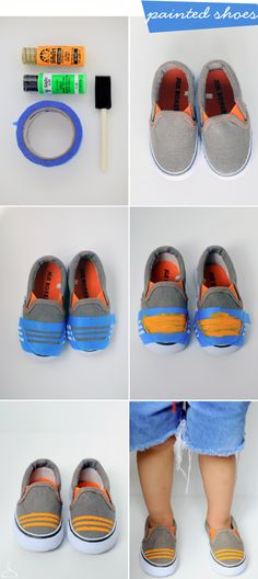 Sweet and Simple Painted Shoes! - Sweet and Simple Painted Shoes! Give your shoes new life! Do It Yourself Inspiration, Small Wardrobe, Painted Shoes, Kid Styles, Diy Clothing, Boy Fashion, Drake Fashion, Fashion Shoes, Refashion