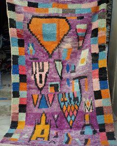 Moroccan boujaad rug 261 x 161 cm  8ft7 x 5ft3