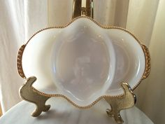 Anchor Hocking Fire King Vintage Milk Glass Vegtable Bowl