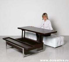 The Single Coffee Table Contains A Top That Lifts Up And Moves Forward With  One Simple Motion, Creating The Perfect Dining Or Working Surface In Your  Living ...