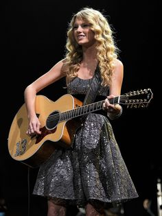 Taylor Swift - To keep your curls intact overnight, pull your hair into a pineapple style. Secure your hair in a bun using a scrunchies, and then tie a scarf around the edges. This way your pillow won't ruin your natural style, and you'll be ready to show off your locks à la Taylor. #prom #curly #hairstyles