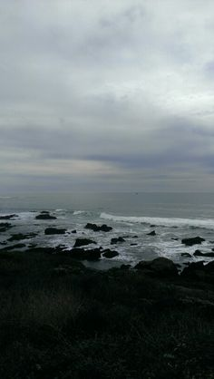 Moonstone Beach in Cambria, CA on a cloudy day. California English, California Coast, Moonstone Beach, San Luis Obispo County, Beauty First, Central Coast, Cloudy Day, Trinidad, Outdoor Spaces