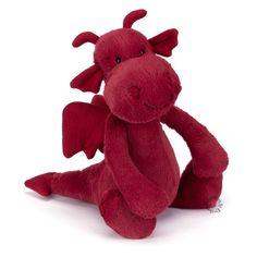 Stoer, maar toch ook lief is dit draakje van Jellycat!