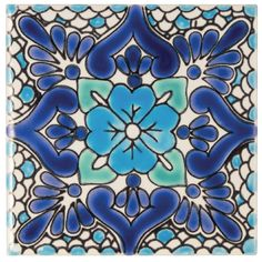 Rosas - Glazed & Decorated - Shop by tile type - Wall & Floor Tiles Patchwork Tiles, Patchwork Designs, Wall Fires, Attic Bed, Floors And More, Fired Earth, Wall And Floor Tiles, Stone Work, Hand Painted Ceramics