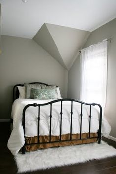 How to Paint a Brass Headboard - AKA what to do with an old antique brass bed not being used... hint... hint. :)