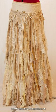 Exquisite Gypsy Esmeralda Ragged Tattered Long by | http://beautiful-skirts-554.lemoncoin.org