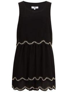 True Decadence Black Scalloped Sequin Dress