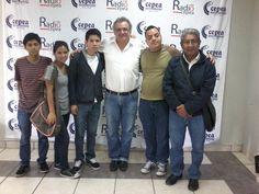 Con Gustavo Guerra García, gestor de la reforma de transporte durante la gestión municipal de Susana Villarán, junto al equipo de Radio Cepea. (2015)