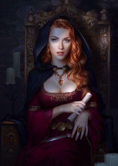 art, blue eyes, and red hair image