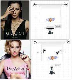 Studio Lighting for Gucci and Dior ad.