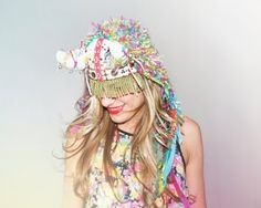 UTHA Shaman original hat - festival headdress - festival hat  - festival headpiece - Bohemian Hippie Headaccessories