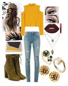 """""""8hjij"""" by bama02614 on Polyvore featuring Lime Crime, Yves Saint Laurent, Gianvito Rossi, H&M, âme moi, BIBI VAN DER VELDEN, Cartier and Tiffany & Co."""