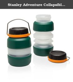 Stanley Adventure Collapsible Bottle 24oz - Case Pack 4. Stanley Adventure Collapsible Bottle 24oz Whether hiking, camping, or tailgating, this packable bottle compresses down when empty to save space. The bottle holds up to 24oz when expanded, and 11oz when compressed. Since 1913, we have been delivering superior food and beverage gear for rugged, active lifestyles and remain dedicated to this simple promise: buy STANLEY products, get quality gear. Built for life. Features & Benefits:...