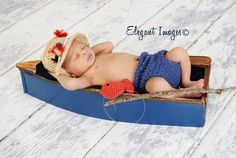 crochet fishing newborn - Google Search