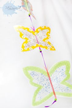 Butterfly Mobile! Fun Kid's Craft!  Thanks Micheline