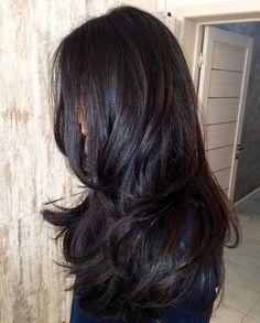 Dark chocolate wine hair color