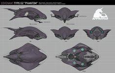 ArtStation - Halo Guardians: Covenant Vehicles, Alex J Cunningham Space Ship Concept Art, Alien Concept Art, Concept Ships, Weapon Concept Art, Environment Concept Art, Aliens, Halo Ships, Alex J, Starship Concept