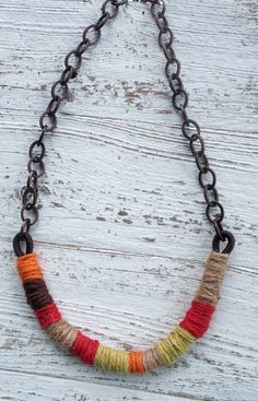 Wrapped Arc Necklace by Ali - using the brand new unpolished hemp - Lima Beads #Vintaj