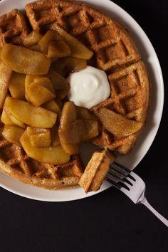 Apple Cinnamon Oat Waffles
