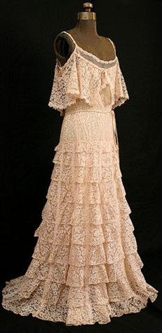 Chanel Couture Lace Evening Dress, 1937