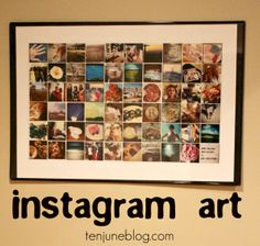 Find fun DIY Picture Frame ideas and inspiration to add to your own home. Browse Cool Picture Frame Designs that are easy to make. Tiny Instagram, Instagram Collage, Instagram Wall, Instagram Ideas, Instagram Images, Polaroid Frame, Cute Frames, Framed Art, Wall Art