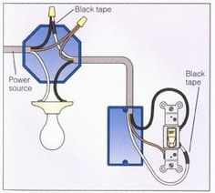 Power at Light 2-way Switch Wiring Diagram