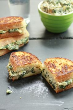 Spinach and Artichoke Melts | Via @hbharvest