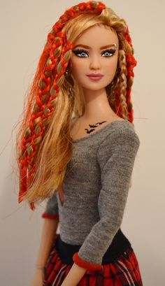 Rumor-Tris Divergent Barbie OOAK repaint by Doll Anatomy/Gypsy X / 9..38.3.25