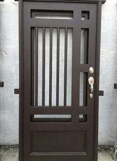 Ideas for Entrance Door Sheet Metal # Door Steel Gate Design, Front Gate Design, Door Gate Design, Main Door Design, Steel Doors And Windows, Iron Front Door, Wrought Iron Doors, Metal Doors, Metal Gates