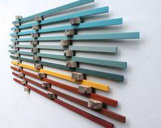 Arte de pared de madera | Arte de madera | Costa Jurásica #5 | Arte de la pared grande | Arte de pared | Escultura de madera | Reciclado madera | Driftwood | 3 movimientos |