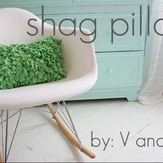 Shag pillow!