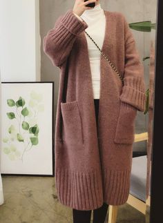 Winter Cardigan Outfit, Cozy Winter Outfits, Cardigan Outfits, Sweater Cardigan, Autumn Outfits, Hoodie Outfit, Mohair Sweater, Stylish Work Outfits, Cute Outfits