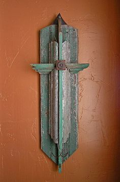 Rustic cross from salvaged materials. Very pretty and unusual crosses in this etsy shop.