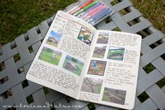 Keeping a Garden Journal - graph paper notebook & printing pictures onto sticker paper!  Genius!  & so cute! :)