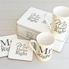 Check this out!! The Kitchen Gift Company have some great deals on Kitchen Gadgets & Gifts Mr Right & Mrs Always Right Mug Gift Set #kitchengiftco