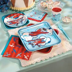 Up & Away Birthday | Start your little boy's birthday adventure with these airplane birthday party supplies! #airplane #birthday #party