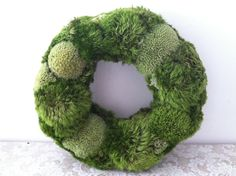 handmade moss wreath. $46.00, via Etsy.