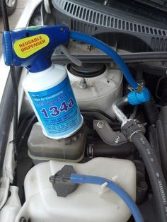 How to Recharge Your Car's Air Conditioner:  Is the air coming from the vents in your car just not as cold as it used to be? You've likely run low on refrigerant in your A/C system.  Over time, tiny amounts of refrigerant leak from the lines, degrading A/C performance. The solution is simple - put more back in.