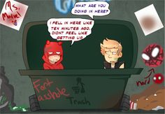 The Little Hero AU, Hawkeye and Daredevil #6 The blind and hearing impaired MARVEL hero's
