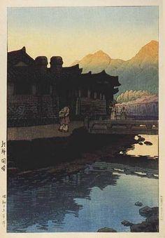 Kawase Hasui (1883-1957) > Chosen Kaijo, Koreai, 1939 (published by Watanabe Shozaburo)
