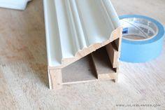 DIY Mantel | Hiding Cord for Flat Screen TV