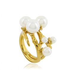 Cherry Bud Ring with pearls, by visionary jeweller Shaun Leane