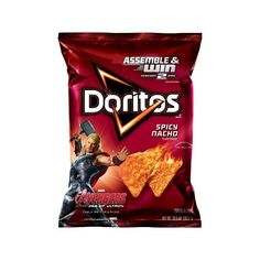Doritos Spicy Nacho Flavored Tortilla Chips 11 oz (€22) ❤ liked on Polyvore featuring food, food and drink, food & drink, filler and other