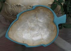 Beautiful Hand Painted Bowl Capiz Shell Bowl by EllieandBellevintage on Etsy,