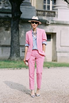 Diana Enciu from Fabulous Muses blog , before Chanel Haute Couture, Paris, July 2013. Recreate Diana's look (kind of): A chic...