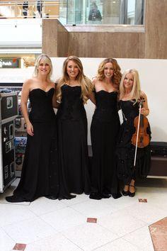Celtic Woman performs at Macquarie Shopping Centre, Sydney: 'Believe' - Susan McFadden, Chloe Agnew, Lisa Lambe, and Mairead Nesbitt.
